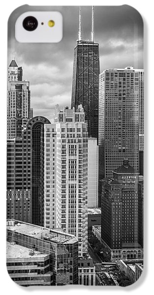 Streeterville From Above Black And White IPhone 5c Case by Adam Romanowicz
