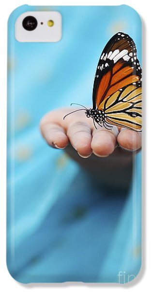 Striped Tiger Butterfly IPhone 5c Case by Tim Gainey