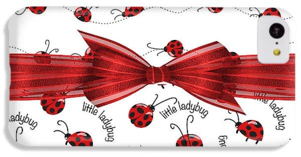 Stylish Ladybugs IPhone 5c Case by Debra  Miller
