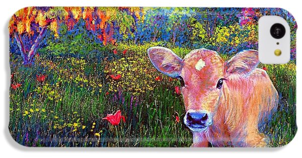 Such A Contented Cow IPhone 5c Case by Jane Small
