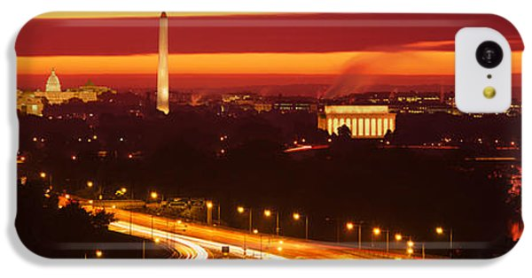 Sunset, Aerial, Washington Dc, District IPhone 5c Case by Panoramic Images