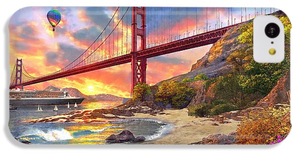 Sunset At Golden Gate IPhone 5c Case by Dominic Davison
