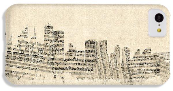 Sydney Australia Skyline Sheet Music Cityscape IPhone 5c Case by Michael Tompsett