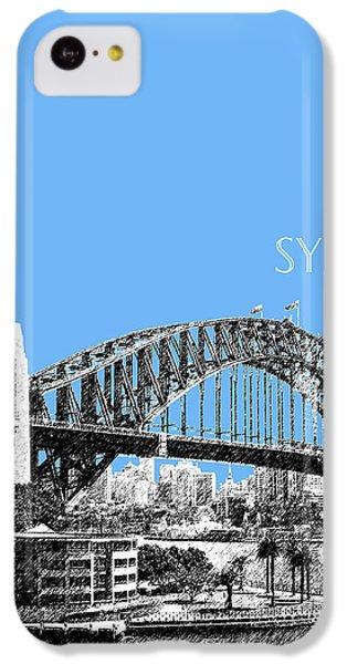Sydney Skyline 2 Harbor Bridge - Light Blue IPhone 5c Case by DB Artist