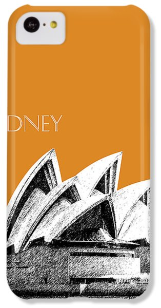 Sydney Skyline 3  Opera House - Dark Orange IPhone 5c Case by DB Artist