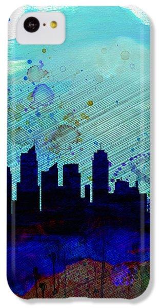 Sydney Watercolor Skyline IPhone 5c Case by Naxart Studio