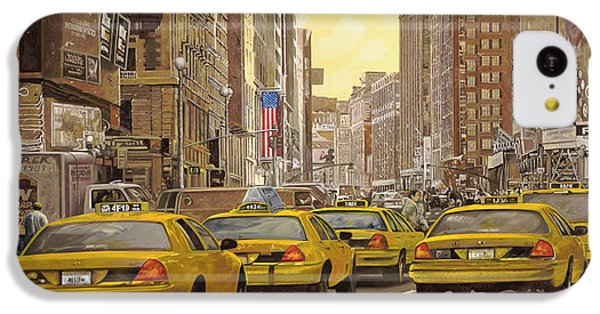 taxi a New York IPhone 5c Case by Guido Borelli