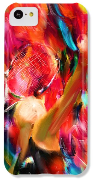 Tennis I IPhone 5c Case by Lourry Legarde