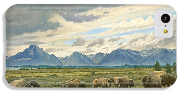 Tetons-buffalo  IPhone 5c Case by Paul Krapf