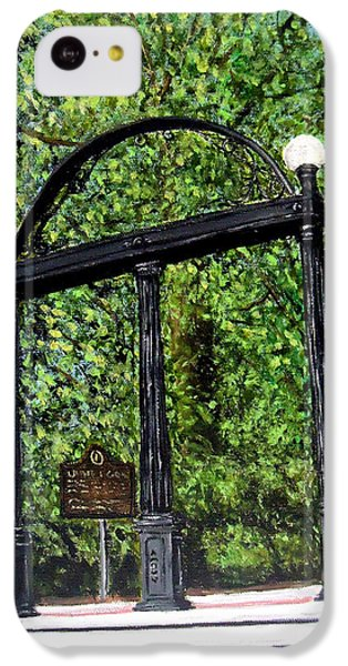 The Arch - University Of Georgia- Painting IPhone 5c Case by Katie Phillips