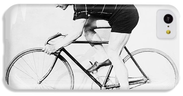 The Bicyclist - 1914 IPhone 5c Case by Daniel Hagerman