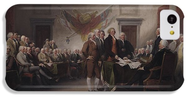 The Declaration Of Independence, July 4, 1776 IPhone 5c Case by John Trumbull