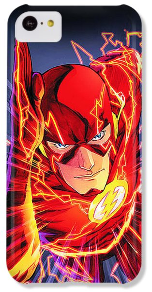 The Flash IPhone 5c Case by FHT Designs