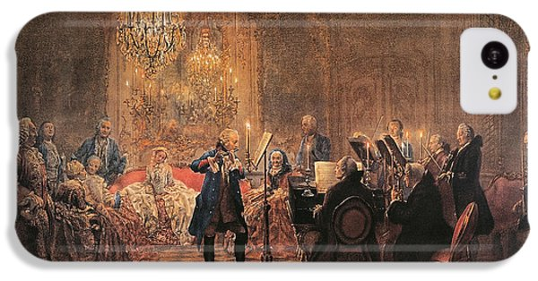 The Flute Concert IPhone 5c Case by Adolph Friedrich Erdmann von Menzel