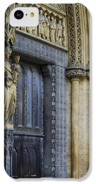 The Great Door Westminster Abbey London IPhone 5c Case by Tim Gainey