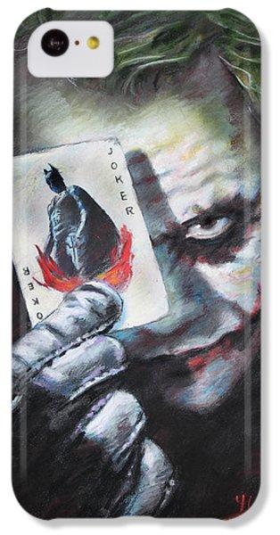 The Joker Heath Ledger  IPhone 5c Case by Viola El