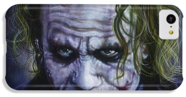 The Joker IPhone 5c Case by Tim  Scoggins
