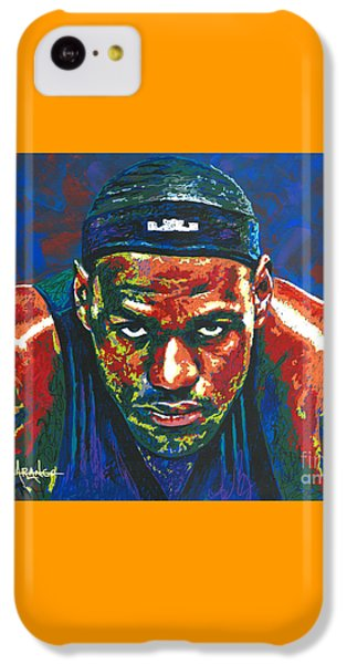 The Lebron Death Stare IPhone 5c Case by Maria Arango