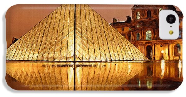 The Louvre By Night IPhone 5c Case by Ayse Deniz