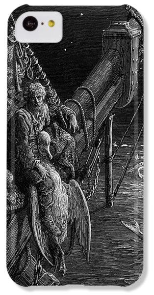 The Mariner Gazes On The Serpents In The Ocean IPhone 5c Case by Gustave Dore