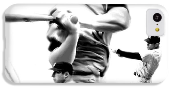 The Mick  Mickey Mantle IPhone 5c Case by Iconic Images Art Gallery David Pucciarelli