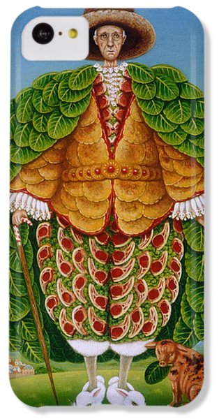 The New Vestments Ivor Cutler As Character In Edward Lear Poem, 1994 Oils And Tempera On Panel IPhone 5c Case by Frances Broomfield