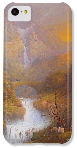 The Road To Rivendell The Lord Of The Rings Tolkien Inspired Art  IPhone 5c Case by Joe  Gilronan
