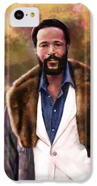 The Silky Silky Soul Singer - Marvin Gaye  IPhone 5c Case by Reggie Duffie