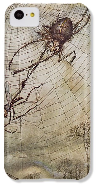 The Spider And The Fly IPhone 5c Case by Arthur Rackham