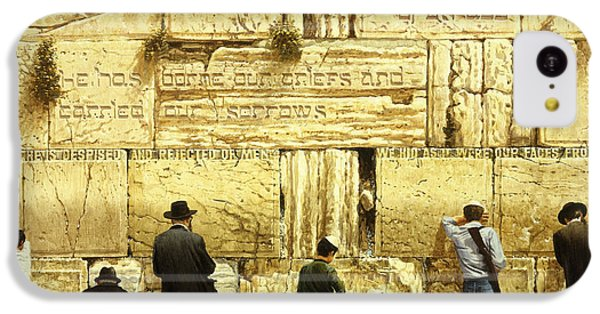 The Western Wall  Jerusalem IPhone 5c Case by Graham Braddock