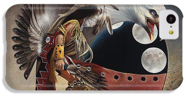 Three Moon Eagle IPhone 5c Case by Ricardo Chavez-Mendez