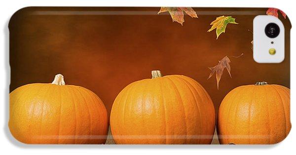 Three Pumpkins IPhone 5c Case by Amanda Elwell