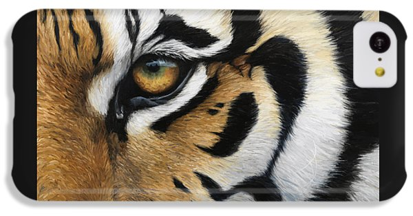 Tiger Eye IPhone 5c Case by Lucie Bilodeau