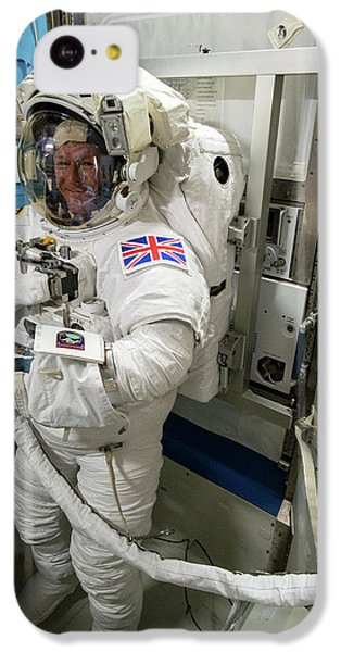 Tim Peake Preparing For Spacewalk IPhone 5c Case by Nasa