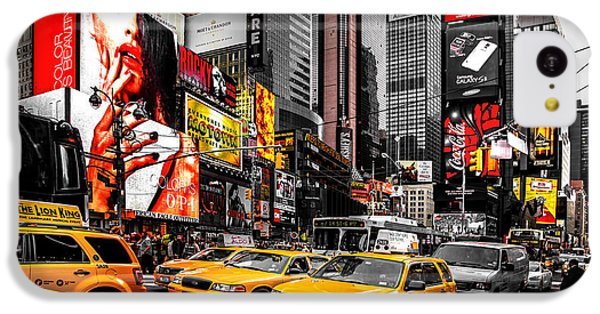 Times Square Taxis IPhone 5c Case by Az Jackson
