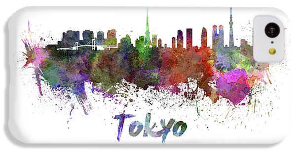 Tokyo Skyline In Watercolor IPhone 5c Case by Pablo Romero