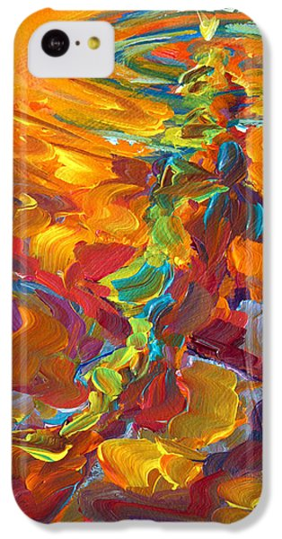 Topwater Trout Abstract Tour Study IPhone 5c Case by Savlen Art