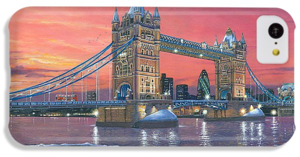 Tower Bridge After The Snow IPhone 5c Case by Richard Harpum