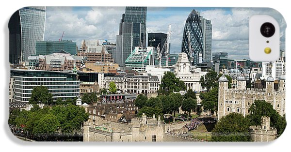 Tower Of London And City Skyscrapers IPhone 5c Case by Mark Thomas