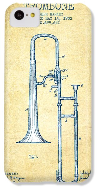 Trombone Patent From 1902 - Vintage Paper IPhone 5c Case by Aged Pixel