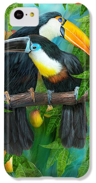 Tropic Spirits - Toucans IPhone 5c Case by Carol Cavalaris