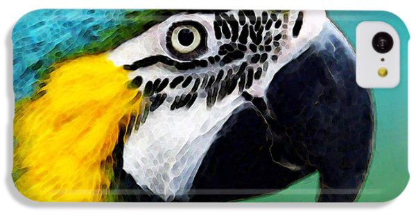 Tropical Bird - Colorful Macaw IPhone 5c Case by Sharon Cummings