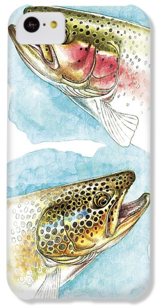 Trout Study IPhone 5c Case by JQ Licensing