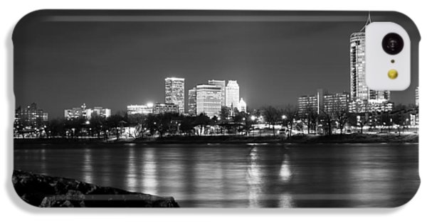 Tulsa In Black And White - University Tower View IPhone 5c Case by Gregory Ballos
