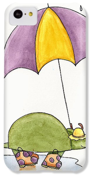 Turtle In The Rain IPhone 5c Case by Christy Beckwith