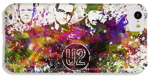 U2 In Color IPhone 5c Case by Aged Pixel