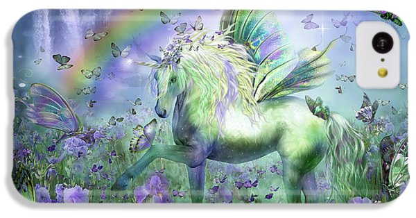 Unicorn Of The Butterflies IPhone 5c Case by Carol Cavalaris