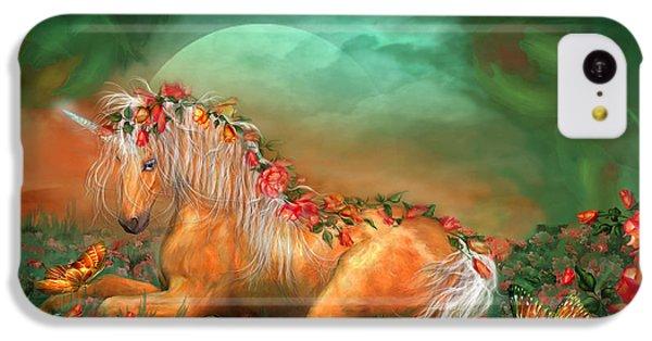 Unicorn Of The Roses IPhone 5c Case by Carol Cavalaris