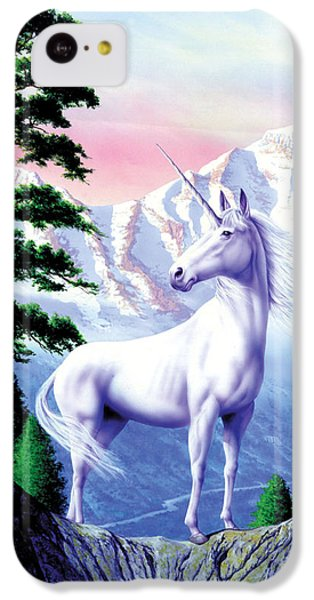 Unicorn The Land That Time Forgot IPhone 5c Case by Garry Walton