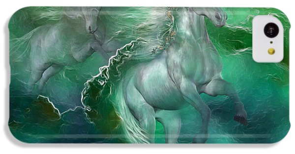 Unicorns Of The Sea IPhone 5c Case by Carol Cavalaris